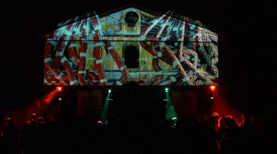 Video mapping Bologna